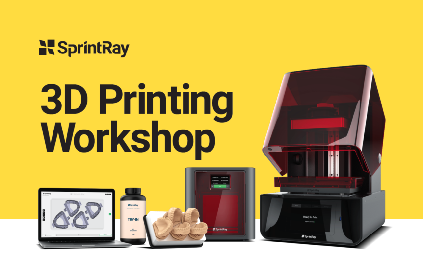 flyer for a dental 3D printing workshop
